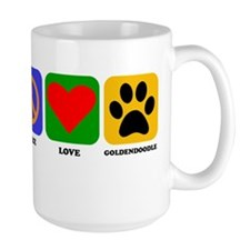 Peace Love Goldendoodle Mugs