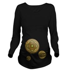 Virgo Long Sleeve Dark Maternity T-Shirt
