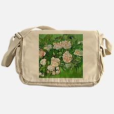 Van Gogh: Still Life - Pink Roses Messenger Bag