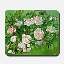 Van Gogh: Still Life - Pink Roses Mousepad