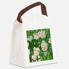 Van Gogh: Still Life - Pink Roses Canvas Lunch Bag