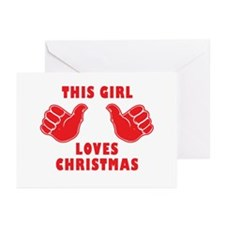This Girl Loves Christmas Greeting Cards (Pk of 20