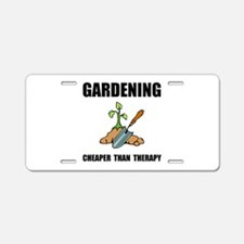 Gardening Therapy Aluminum License Plate