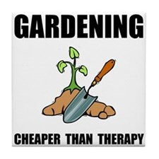 Gardening Therapy Tile Coaster