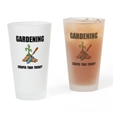 Gardening Therapy Drinking Glass