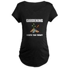 Gardening Therapy Maternity T-Shirt