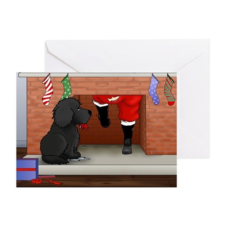 Nothin' Butt a Newfie Xmas Greeting Cards-Pk of 10