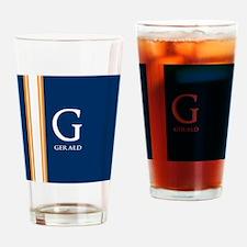 Modern Monogram Drinking Glass