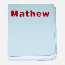 Mathew Santa Fur baby blanket
