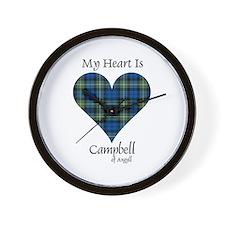 Heart - Campbell of Argyll Wall Clock
