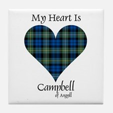 Heart - Campbell of Argyll Tile Coaster