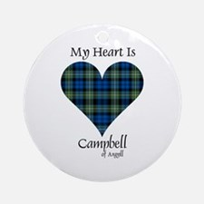 Heart - Campbell of Argyll Ornament (Round)