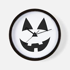 Pumpkin Face Wall Clock