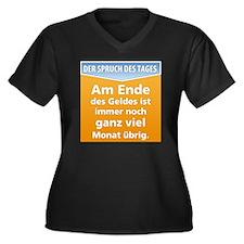 SpruchA02 Women's Plus Size Dark V-Neck T-Shirt