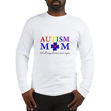Autism Mom Superhero Long Sleeve T-Shirt