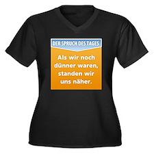 SpruchA01 Women's Plus Size Dark V-Neck T-Shirt
