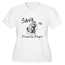 Save the Prairie Dogs! Plus Size T-Shirt