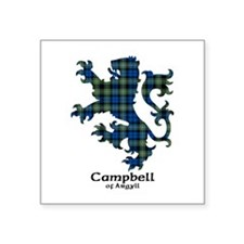 "Lion - Campbell of Argyll Square Sticker 3"" x 3"""