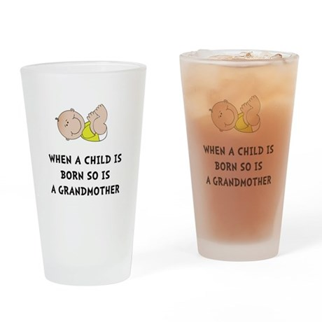 Grandmother Born Drinking Glass