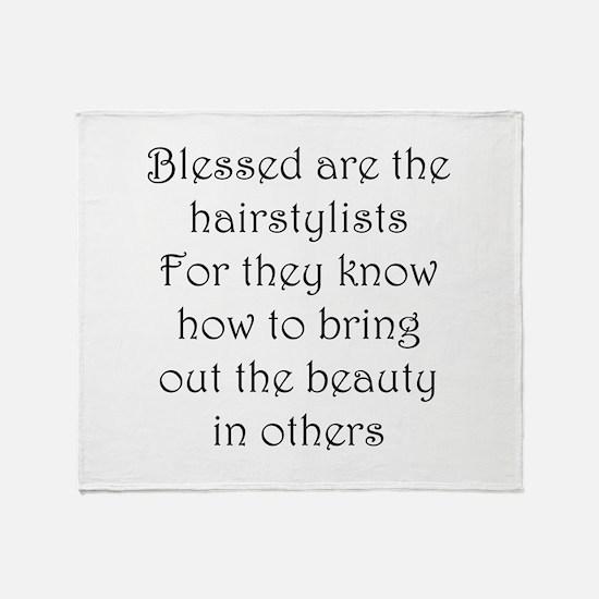 Hairstylist Throw Blanket