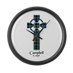 Cross - Campbell of Argyll Large Wall Clock