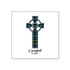 "Cross - Campbell of Argyll Square Sticker 3"" x 3"""