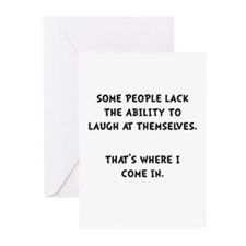 Laugh Themselves Greeting Cards