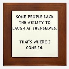 Laugh Themselves Framed Tile