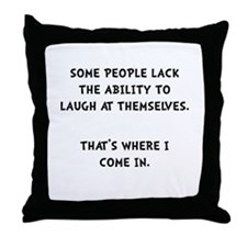 Laugh Themselves Throw Pillow