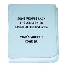 Laugh Themselves baby blanket