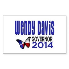 Wendy Davis Texas Governor 2014 with Butterfly Sti