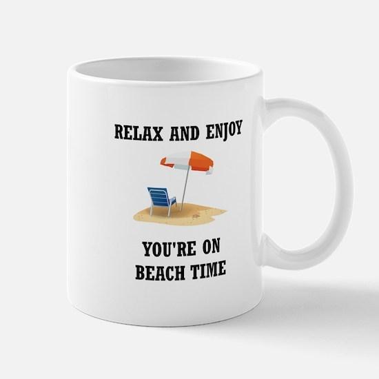 On Beach Time Mugs