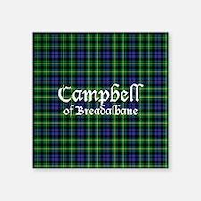 "Tartan - Campbell of Breadalbane Square Sticker 3"""