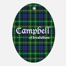 Tartan - Campbell of Breadalbane Ornament (Oval)