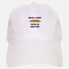 On Lake Time Baseball Baseball Baseball Cap