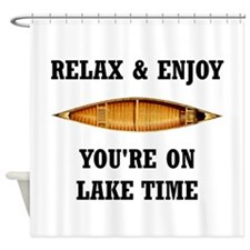 On Lake Time Shower Curtain
