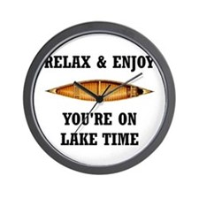 On Lake Time Wall Clock