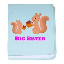 Big Sister Squirrel baby blanket