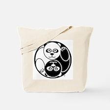 Yin and Yang Panda Tote Bag