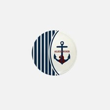Anchor and Stripes Monogram Mini Button (10 pack)