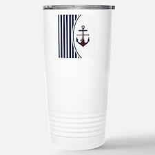 Anchor and Stripes Mono Travel Mug