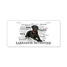 Black Lab Traits Aluminum License Plate