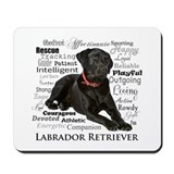 Black labrador Mouse Pads