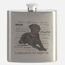 Black Lab Traits Flask