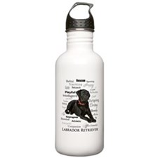 Black Lab Traits Water Bottle