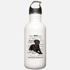 Black Lab Traits Water Bottle