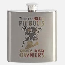 NO BAD PIT BULLS AF4 Flask
