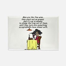 Men and Fine Wine Rectangle Magnet