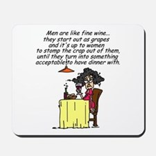 Men and Fine Wine Mousepad