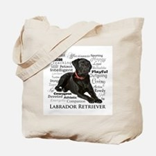 Black Lab Traits Tote Bag